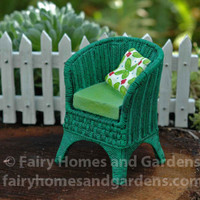 Miniature Merriment Wicker Chair