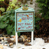 Miniature Follow Your Dreams Sign