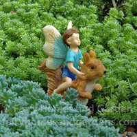 Fairy Boy Riding a Squirrel