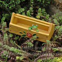 Miniature Garden Caddy with Tiny Frog
