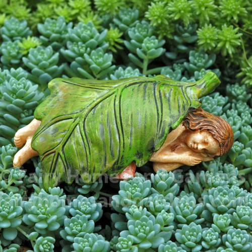 Fairy Sleeping Under a Leaf