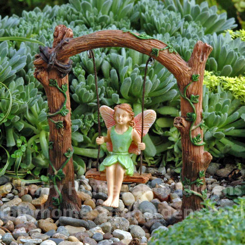 Fairy on a Swing under an Arch