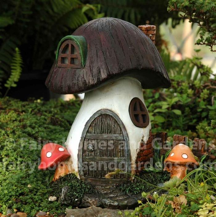 Solar Toadstool Fairy House
