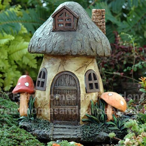 Solar Mushroom Fairy House