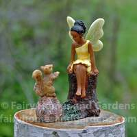 Fairy Making Friends with a Little Squirrel