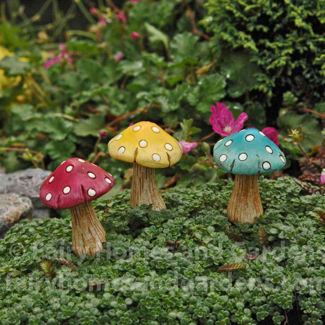 Fairy Mushrooms Fairy Garden Glowing Mushrooms Mini Mushrooms