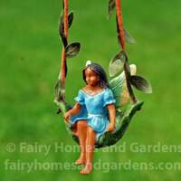 Fairy on a Leaf Swing