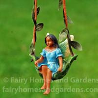 Fairy on a Leaf Swing