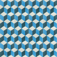 ESCHER BLUE CEMENT TILES