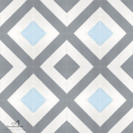 CORNER DIAMOND BLUE CEMENT TILES