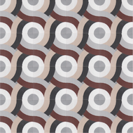 SWIRL SIENNA CEMENT TILES