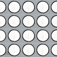 SIDE CIRCLES GREY CEMENT TILES