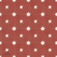 STARS RED CEMENT TILES