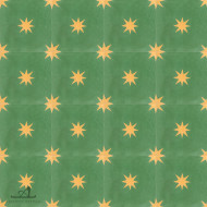 STARS GREEN CEMENT TILES