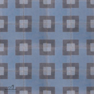 CORNER SQUARE BLUE CEMENT TILES
