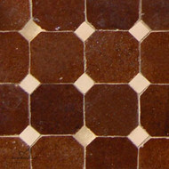 "CORA CAB (1"") BROWN MOSAIC TILES"