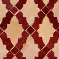 RENAIS RED & NATURAL MOSAIC TILES
