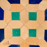 8 NATURAL & BLUE MOSAIC TILE
