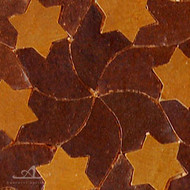 STARS BROWN MOSAIC TILE