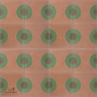 DOTS PEACH CEMENT TILE