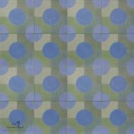 DOTTY BLUE CEMENT TILE