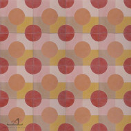 DOTTY RED CEMENT TILE
