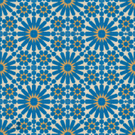 DOUBLE DAISY BLUE CEMENT TILE
