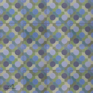DOUBLE DOTTY BLUE CEMENT TILE