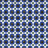 MAMOUNIA BLUE CEMENT TILE