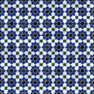 MAMOUNIA BLUE CEMENT TILE