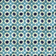 MAMOUNIA TEAL CEMENT TILE