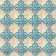 MEDALLION TEAL CEMENT TILE