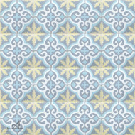 MEDALLION YELLOW CEMENT TILE