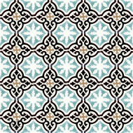 MEDALLION AQUAMARINE CEMENT TILE