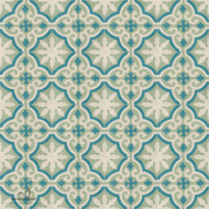 MEDALLION BONDI BLUE CEMENT TILE