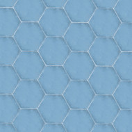 HEXAGON BLUE CEMENT TILE