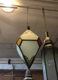 FROSTED MULTI DIAMOND LAMP