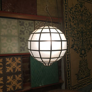FROSTED SQUARE GLOBE LAMP