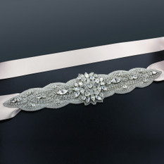 "GIAVAN Sash with 9"" Crystal Applique BL33"