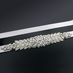 GIAVAN Bridal Sash with Marquise Crystal Detailing BL40