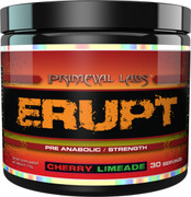 Primeval Labs ERUPT -Strength & Power Pre-workout- Cherry-Limeade