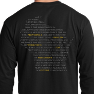 Long Sleeve Shirt with Typographical Wisconsin Design