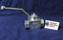 (Qty of 1) Hydraulic Ball Valve 2 way #6 SAE ports 7250 PSI Gemels GE2EEE15011A000