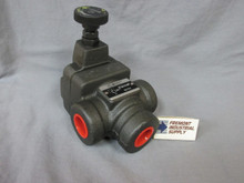 "(Qty of 1) Inline hydraulic pilot operated relief valve 1-1/4"" NPT 1000-3000 PSI adjustment range  Power Valve USA"