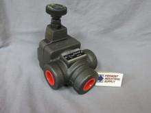 "(Qty of 1) Inline hydraulic pressure reducing valve 3/4"" NPT 1000-3000 PSI adjustment range  Power Valve USA"