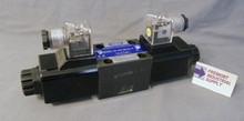 (Qty of 1) D03SD-2F-12D-35 Hyvair interchange D03 hydraulic solenoid valve 4 way 3 position, A & B OPEN to TANK, P Blocked  12 VOLT DC  Power Valve USA