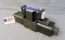 (Qty of 1) SWH-G03-C6-D12-10 Northman interchange D05 hydraulic solenoid valve 4 way 3 position, P open to Tank with ports A & B blocked  12 volt DC