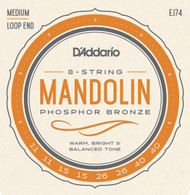 D'addario EJ74 Mandolin Phospher Bronze Medium Strings