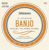 D'addario EJ61 Banjo Nickel Wound 10-23 Med