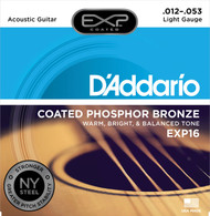 D'Addario EXP16 Coated Phosphor Bronze .012-.053 Light